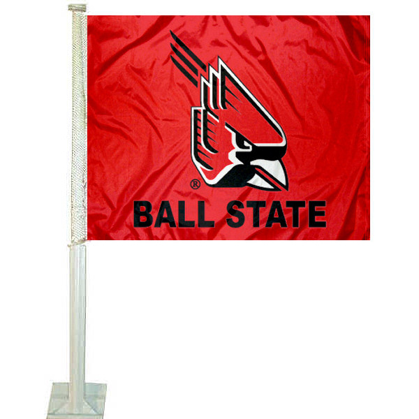BSU Cardinals Car Flag measures 12x15 inches, is constructed of sturdy 2 ply polyester, and has dye sublimated school logos which are readable and viewable correctly on both sides. BSU Cardinals Car Flag is officially licensed by the NCAA and selected university.