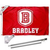 BU Braves Flag Pole and Bracket Kit