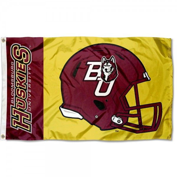 BU Huskies Football Helmet Flag measures 3x5 feet, is made of 100% polyester, offers quadruple stitched flyends, has two metal grommets, and offers screen printed NCAA team logos and insignias. Our BU Huskies Football Helmet Flag is officially licensed by the selected university and NCAA.