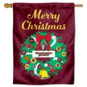 BU Huskies Happy Holidays Banner Flag