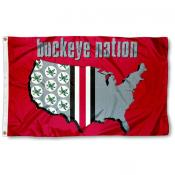 Buckeye Nation Ohio State Flag