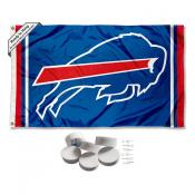 Buffalo Bills Banner Flag with Tack Wall Pads
