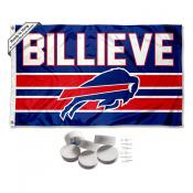 Buffalo Bills Billieve Banner Flag with Tack Wall Pads