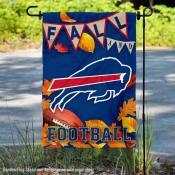 Buffalo Bills Fall Football Leaves Decorative Double Sided Garden Flag