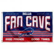 Buffalo Bills Fan Cave Flag Large Banner
