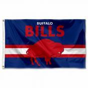 Buffalo Bills Throwback Retro Vintage Logo Flag