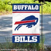 Buffalo Bills White Double Sided Garden Banner Flag