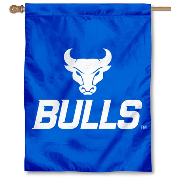 Buffalo Bulls Double Sided House Flag is a vertical house flag which measures 30x40 inches, is made of 2 ply 100% polyester, offers screen printed NCAA team insignias, and has a top pole sleeve to hang vertically. Our Buffalo Bulls Double Sided House Flag is officially licensed by the selected university and the NCAA.