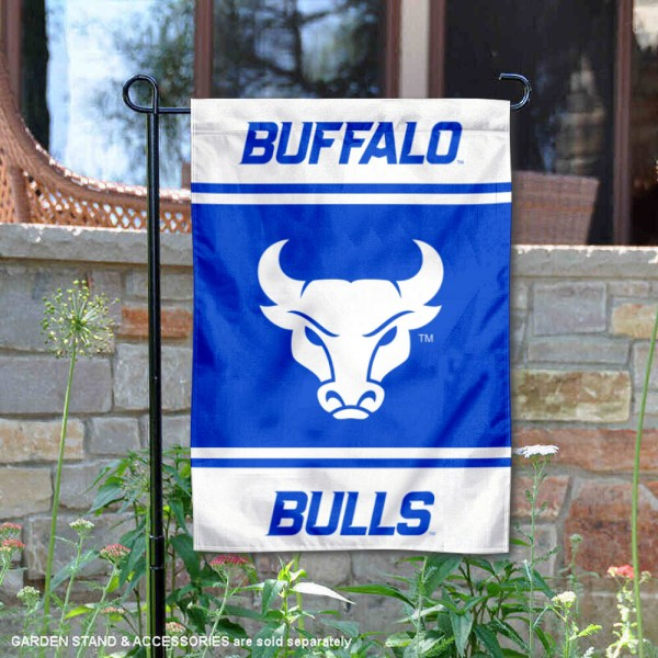 Buffalo Bulls Garden Flag is 13x18 inches in size, is made of 2-layer polyester, screen printed logos and lettering. Available with Same Day Express Shipping, Our Buffalo Bulls Garden Flag is officially licensed and approved by the NCAA.