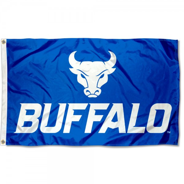 Buffalo Bulls New Logo Flag is made of 100% nylon, offers quad stitched flyends, measures 3x5 feet, has two metal grommets, and is viewable from both side with the opposite side being a reverse image. Our Buffalo Bulls New Logo Flag is officially licensed by the selected college and NCAA