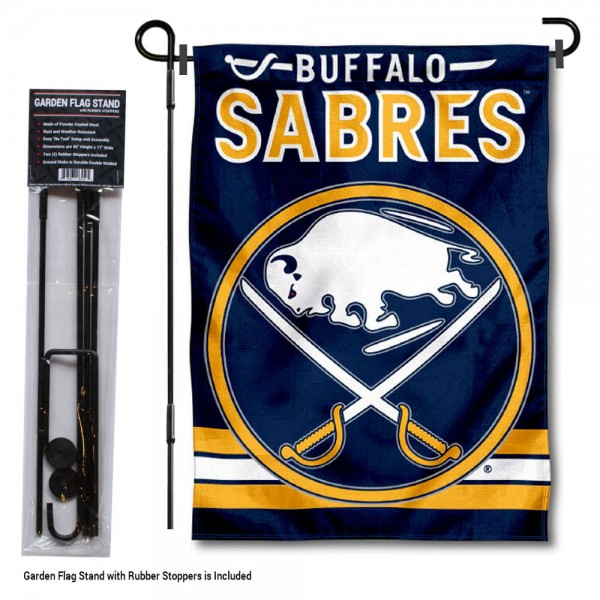 Buffalo Sabres Garden Flag and Flagpole Stand