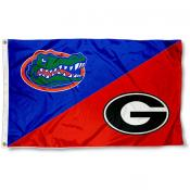 Bulldogs vs Gators House Divided 3x5 Flag