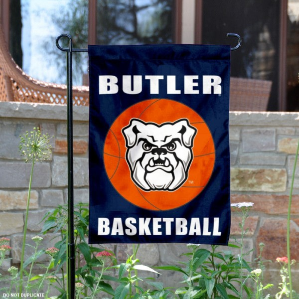 Butler Bulldogs Basketball Garden Banner is 13x18 inches in size, is made of 2-layer polyester, screen printed athletic logos and lettering. Available with Same Day Express Shipping, Our Butler Bulldogs Basketball Garden Banner is officially licensed and approved by the school and the NCAA.