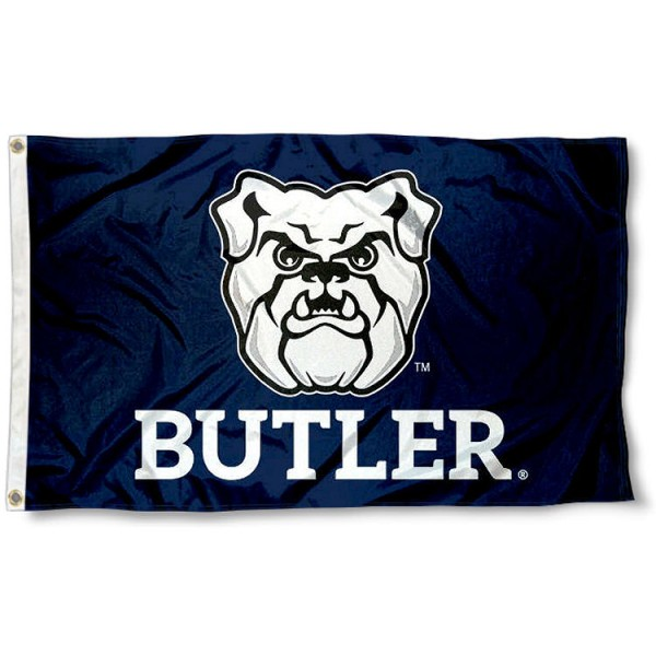 Butler Bulldogs Flag measures 3x5 feet, is made of 100% polyester, offers quadruple stitched flyends, has two metal grommets, and offers screen printed NCAA team logos and insignias. Our Butler Bulldogs Flag is officially licensed by the selected university and NCAA.