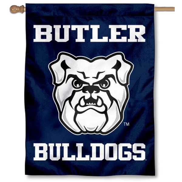 Butler Bulldogs House Flag is a vertical house flag which measures 30x40 inches, is made of 2 ply 100% polyester, offers screen printed NCAA team insignias, and has a top pole sleeve to hang vertically. Our Butler Bulldogs House Flag is officially licensed by the selected university and the NCAA.