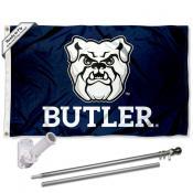 Butler Bulldogs Logo Flag Pole and Bracket Kit