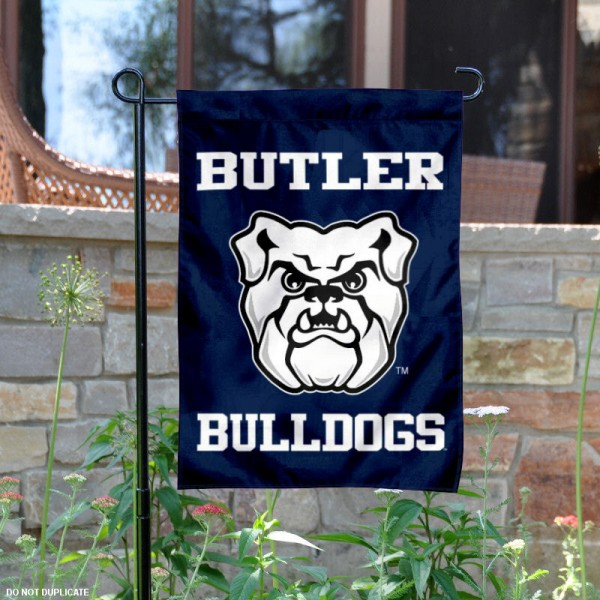 Butler Bulldogs New Logo Garden Flag is 13x18 inches in size, is made of 2-layer polyester, screen printed university athletic logos and lettering. Available with Same Day Express Shipping, our Butler Bulldogs New Logo Garden Flag is officially licensed and approved by the university and the NCAA.