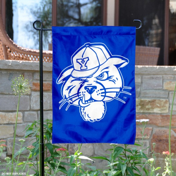 BYU Cougars Royal Blue Cougar Garden Flag is 13x18 inches in size, is made of 2-layer polyester, screen printed university athletic logos and lettering, and is readable and viewable correctly on both sides. Available same day shipping, our BYU Cougars Royal Blue Cougar Garden Flag is officially licensed and approved by the university and the NCAA.