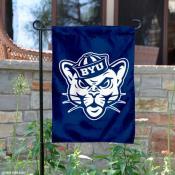 BYU Vintage Cougar Logo Garden Flag