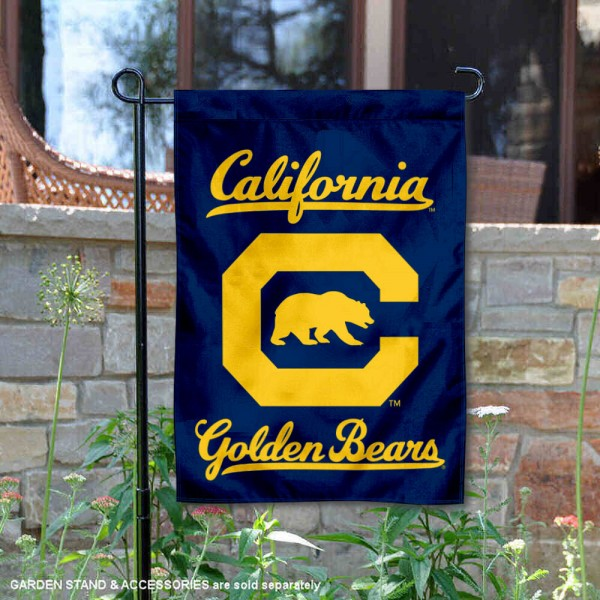 Cal Bears Block C Garden Flag is 13x18 inches in size, is made of 2-layer polyester, screen printed university athletic logos and lettering, and is readable and viewable correctly on both sides. Available same day shipping, our Cal Bears Block C Garden Flag is officially licensed and approved by the university and the NCAA.
