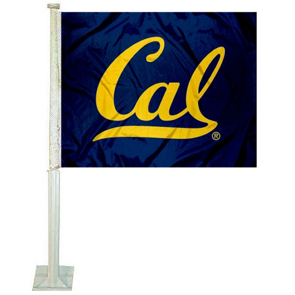 Cal Bears Car Window Flag measures 12x15 inches, is constructed of sturdy 2 ply polyester, and has screen printed school logos which are readable and viewable correctly on both sides. Cal Bears Car Window Flag is officially licensed by the NCAA and selected university.
