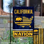 Cal Bears Garden Flag with USA Country Stars and Stripes