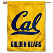 Cal Berkeley Gold Logo Banner Flag