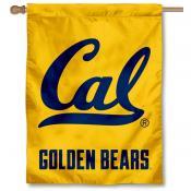 Cal Berkeley Gold Logo Banner Flag