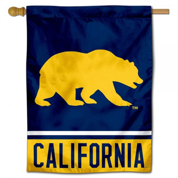 """Cal Berkeley Golden Bears Banner Flag is constructed of polyester material, is a vertical house flag, measures 30""""x40"""", offers screen printed athletic insignias, and has a top pole sleeve to hang vertically. Our Cal Berkeley Golden Bears Banner Flag is Officially Licensed by Cal Berkeley Golden Bears and NCAA."""