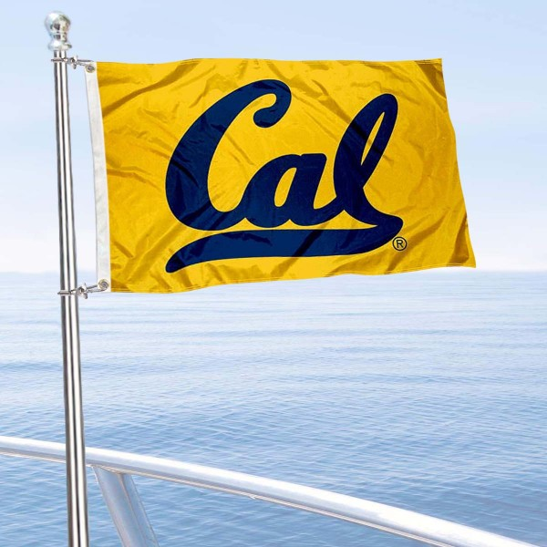 Cal Berkeley Golden Bears Boat and Mini Flag is 12x18 inches, polyester, offers quadruple stitched flyends for durability, has two metal grommets, and is double sided. Our mini flags for Cal Berkeley Golden Bears are licensed by the university and NCAA and can be used as a boat flag, motorcycle flag, golf cart flag, or ATV flag.