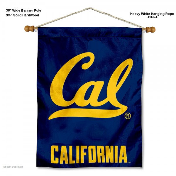 """Cal Berkeley Golden Bears Cal Logo Wall Banner is constructed of polyester material, measures a large 30""""x40"""", offers screen printed athletic logos, and includes a sturdy 3/4"""" diameter and 36"""" wide banner pole and hanging cord. Our Cal Berkeley Golden Bears Cal Logo Wall Banner is Officially Licensed by the selected college and NCAA."""