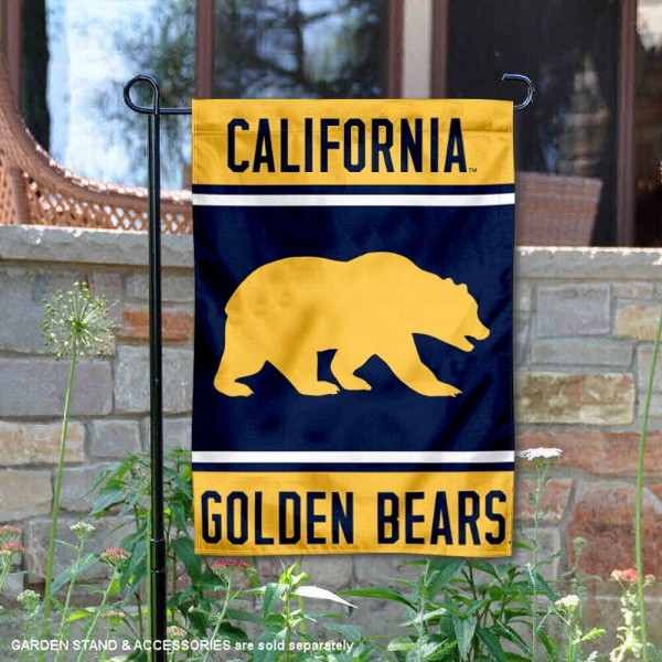 Cal Berkeley Golden Bears Garden Flag is 13x18 inches in size, is made of 2-layer polyester, screen printed logos and lettering. Available with Same Day Express Shipping, Our Cal Berkeley Golden Bears Garden Flag is officially licensed and approved by the NCAA.