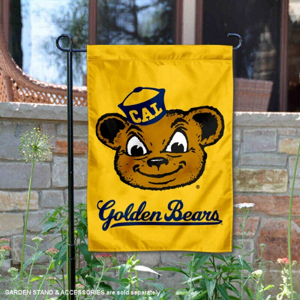 Cal Berkeley Golden Bears Retro Throwback Garden Flag is 13x18 inches in size, is made of 2-layer polyester, screen printed university athletic logos and lettering, and is readable and viewable correctly on both sides. Available same day shipping, our Cal Berkeley Golden Bears Retro Throwback Garden Flag is officially licensed and approved by the university and the NCAA.