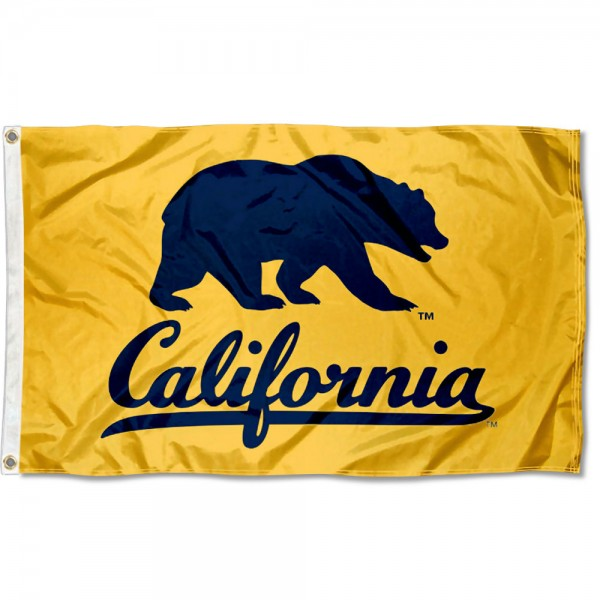 Cal Berkeley Golden Bears Walking Bear Flag is made of 100% nylon, offers quad stitched flyends, measures 3x5 feet, has two metal grommets, and is viewable from both side with the opposite side being a reverse image. Our Cal Berkeley Golden Bears Walking Bear Flag is officially licensed by the selected college and NCAA