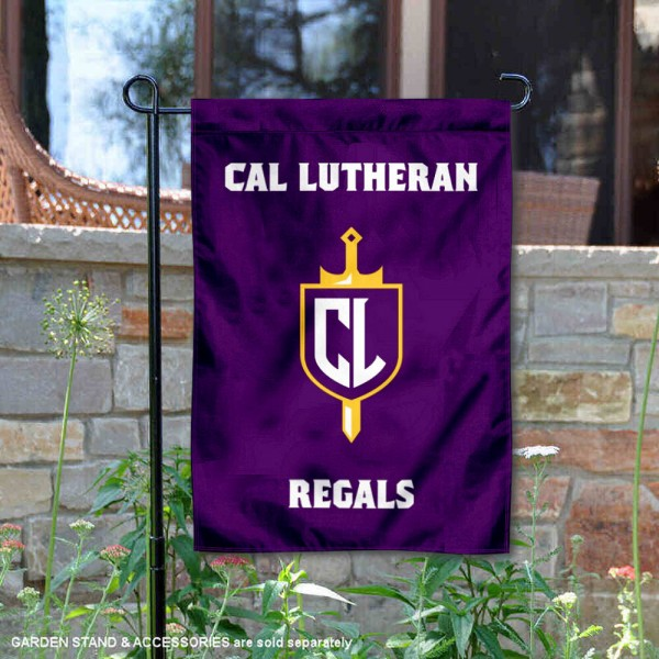 Cal Lutheran Double Sided Garden Flag is 13x18 inches in size, is made of 2-layer polyester, screen printed university athletic logos and lettering, and is readable and viewable correctly on both sides. Available with same day shipping, our Cal Lutheran Double Sided Garden Flag is officially licensed and team approved by the university and the NCAA.