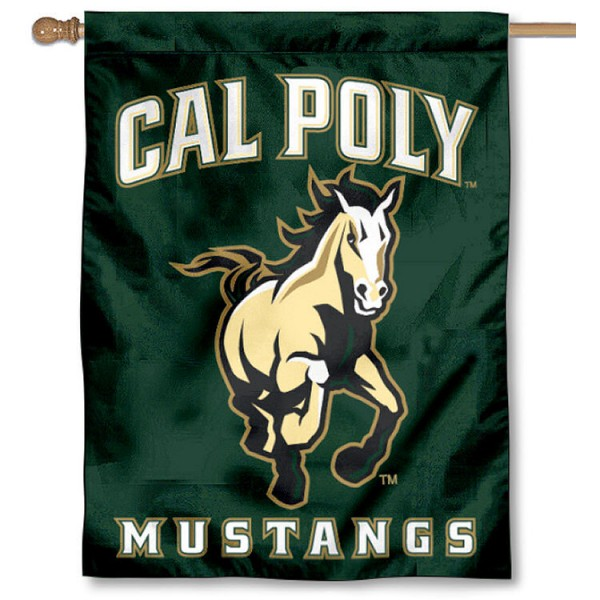 Cal Poly House Flag is a vertical house flag which measures 30x40 inches, is made of 2 ply 100% polyester, offers screen printed NCAA team insignias, and has a top pole sleeve to hang vertically. Our Cal Poly House Flag is officially licensed by the selected university and the NCAA.