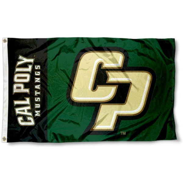 Cal Poly Mustangs CP Logo Flag measures 3'x5', is made of 100% poly, has quadruple stitched sewing, two metal grommets, and has double sided Team University logos. Our Cal Poly Mustangs 3x5 Flag is officially licensed by the selected university and the NCAA.