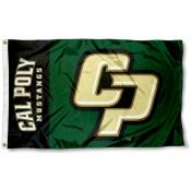 Cal Poly Mustangs CP Logo Flag