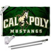 Cal Poly Mustangs Flag Pole and Bracket Kit