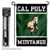 Cal Poly Mustangs Garden Flag and Pole Stand Holder