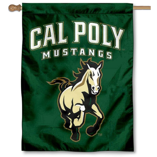 Cal Poly Mustangs House Banner is a vertical house flag which measures 30x40 inches, is made of 2 ply 100% polyester, offers screen printed NCAA team insignias, and has a top pole sleeve to hang vertically. Our Cal Poly Mustangs House Banner is officially licensed by the selected university and the NCAA.