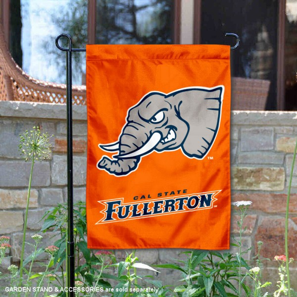 Cal State Fullerton Titans Orange Garden Flag is 13x18 inches in size, is made of 2-layer polyester, screen printed university athletic logos and lettering. Available with Same Day Express Shipping, our Cal State Fullerton Titans Orange Garden Flag is officially licensed and approved by the university and the NCAA.