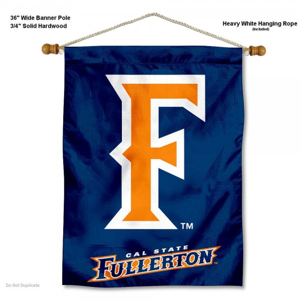 """Cal State Fullerton Titans Wall Banner is constructed of polyester material, measures a large 30""""x40"""", offers screen printed athletic logos, and includes a sturdy 3/4"""" diameter and 36"""" wide banner pole and hanging cord. Our Cal State Fullerton Titans Wall Banner is Officially Licensed by the selected college and NCAA."""