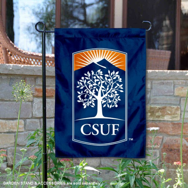 Cal State Fullerton Titans Wordmark Logo Garden Flag is 13x18 inches in size, is made of 2-layer polyester, screen printed university athletic logos and lettering, and is readable and viewable correctly on both sides. Available same day shipping, our Cal State Fullerton Titans Wordmark Logo Garden Flag is officially licensed and approved by the university and the NCAA.