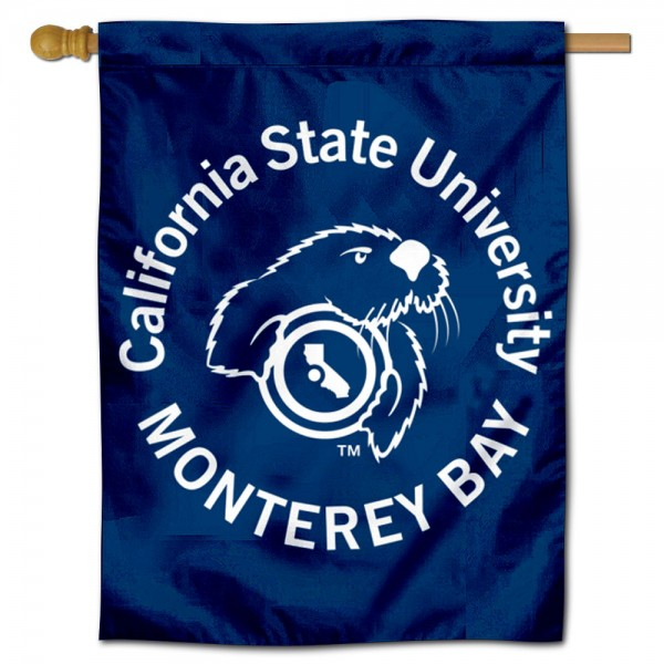 Cal State Monterey Otters Double Sided House Flag is a vertical house flag which measures 30x40 inches, is made of 2 ply 100% polyester, offers screen printed NCAA team insignias, and has a top pole sleeve to hang vertically. Our Cal State Monterey Otters Double Sided House Flag is officially licensed by the selected university and the NCAA.