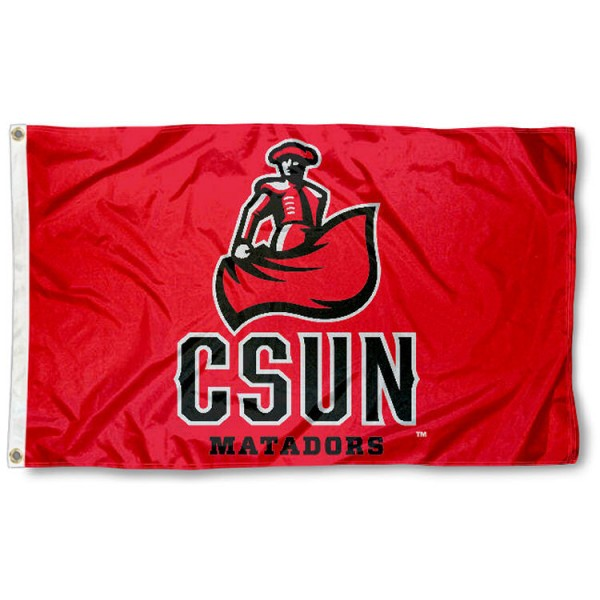 Cal State Northridge Matadors Flag is made of 100% nylon, offers quad stitched flyends, measures 3x5 feet, has two metal grommets, and is viewable from both side with the opposite side being a reverse image. Our Cal State Northridge Matadors Flag is officially licensed by the selected college and NCAA