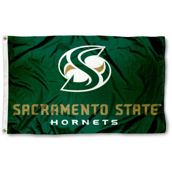 This Cal State Sacramento Flag measures 3'x5', is made of 100% nylon, has quad-stitched sewn flyends, and has two-sided Cal State Sacramento printed logos. Our Cal State Sacramento Flag is officially licensed and all flags for Cal State Sacramento are approved by the NCAA and Same Day UPS Express Shipping is available.