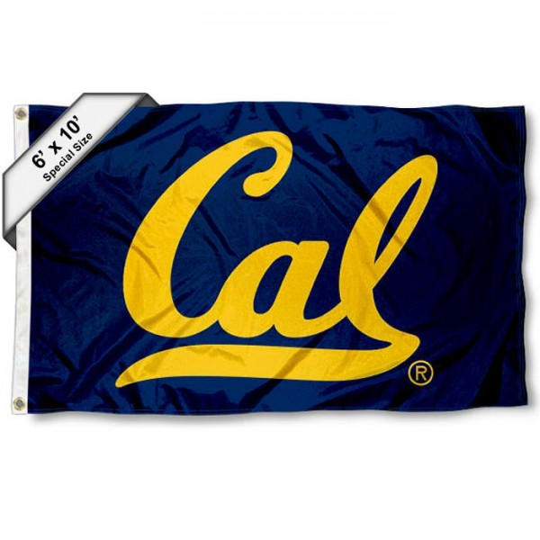 California Golden Bears 6'x10' Flag measures 6x10 feet, is made of thick poly, has quadruple-stitched fly ends, and UC Berkeley logos are screen printed into the UC Berkeley 6'x10' Flag. This 6'x10' Flag is officially licensed by and the NCAA.