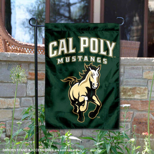 California Polytechnic State Garden Flag is 13x18 inches in size, is made of 2-layer polyester, screen printed California Polytechnic State athletic logos and lettering. Available with Same Day Express Shipping, Our California Polytechnic State Garden Flag is officially licensed and approved by California Polytechnic State and the NCAA.