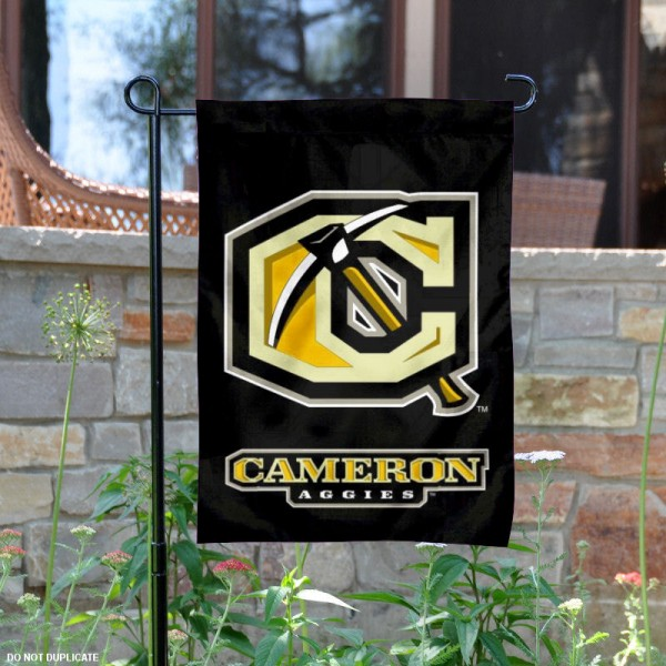 Cameron Aggies Logo Garden Flag is 13x18 inches in size, is made of 2-layer polyester, screen printed Cameron Aggies Bay athletic logos and lettering. Available with Same Day Express Shipping, Our Cameron Aggies Logo Garden Flag is officially licensed and approved by Cameron Aggies Bay and the NCAA.